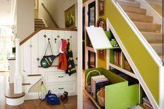 Stauraum unter der Treppe flur ideen