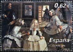 ESPAÑA - CIRCA 2009: Un Sello Impreso En España Muestra Las Meninas De Velázquez, En Torno A 2009 Fotos, Retratos, Imágenes Y Fotografía De Archivo Libres De Derecho. Image 13874875.