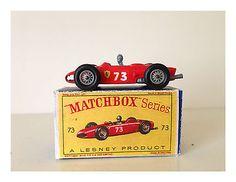 MATCHBOX LESNEY FERRARI F1 RACE CAR - No. 73 -B- CAR W/DRIVER - W/BOX           - http://www.matchbox-lesney.com/?p=4870
