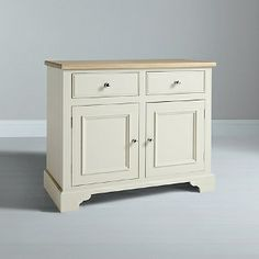 Buy Neptune Chichester 3ft 6 2 Door Sideboard, Limestone Online at johnlewis.com