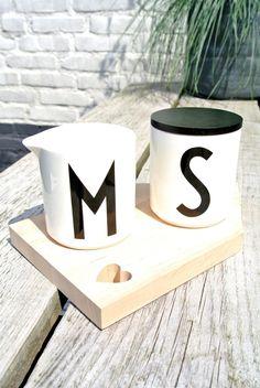Milk & Sugar please....  Design Letters by Arne Jacobsen MY LETTERS...