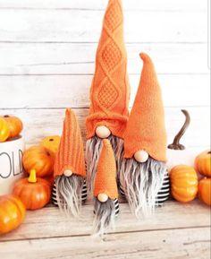 Halloween Gnomes. Faux fur. home decor. Modern farm house felt | Etsy