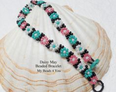 Beaded Bracelet Daisy Chain BraceletDaisy Chain by mybeads4you