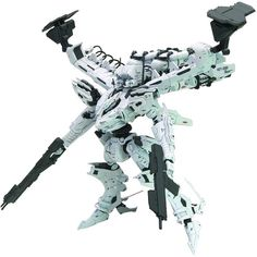 With more than 300 parts and 30 articulation points, the mecha stands about 18 cm tall.
