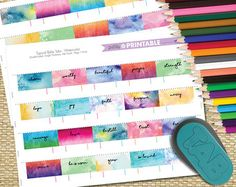 Must have for your bible! Add a little color and make it easier to find a certain book by adding these beautiful watercolor tabs.  Set of 66 for each book of the bible.  Hand trimming template for easy use. Printing/Trimming instructions included on the PDFs. Print, Trim & attach using glue, double-sided tape or washi tape!  This product is an INSTANT DOWNLOAD! After your purchase, you'll receive a link to the downloads page where you can download this file.  Please note that this pr...