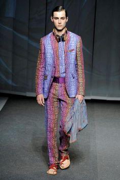 Etro Spring-Summer 2013 in Milan Men's Fashion Week ~Bohemian Romantic