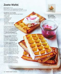 Tupperware Belgium—page 14 Desserts With Biscuits, Mini Desserts, Healthy Toddler Breakfast, My Favorite Food, Favorite Recipes, Tupperware Recipes, English Food, Waffle Recipes, Sweet Tooth