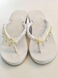 1ef0f75b7bf1bc Wedding Flip Flops Wedding Shoes Bride Shoes Wedges Bride Beach Wedding  Sandals