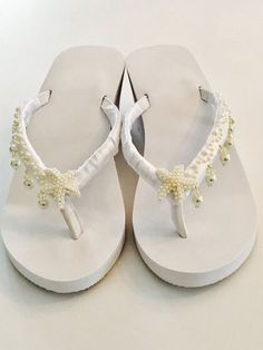 074e55d0e6a636 Wedding Flip Flops Wedding Shoes Bride Shoes Wedges Bride Beach Wedding  Sandals