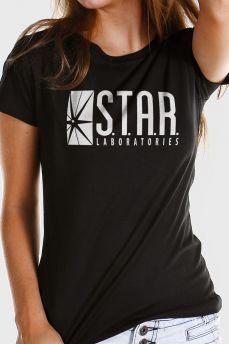 cf4a102c6a Camiseta Feminina The Flash Serie STAR Laboratories Camisetas Legais