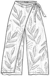 Monsun pants in eco-cotton – Pants & leggings – Gudrun Sjödén Pink Trousers, Sewing Patterns, Sewing Ideas, Cotton Pants, Fun Prints, Workout Pants, Costume Design, Dresses With Sleeves, Leggings