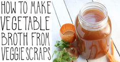 Waste not want not. This easy DIY recipe uses up all those leftover veggie scraps to make a homemade broth. Video tutorial included.