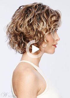 #curlyhairstyles Real Hair Wigs, 100 Human Hair Wigs, Short Shag Hairstyles, Wig Hairstyles, Lace Front, Short Wavy Hair, Blonde Color, Textured Hair, Hair Lengths