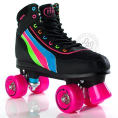 Roller disco in the house! Elly would look fabulous in a pair of neon disco roller skates. Roller Disco, Disco Roller Skating, Rio Roller, Quad Roller Skates, Roller Derby, Roller Rink, Derby Skates, Skate Party, Skater Girls