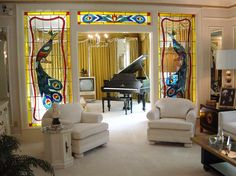 The living room at Graceland - Memphis, Tennessee