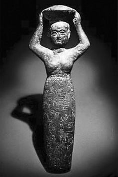 The Ancient Sumerian Goddess of Beer -- not sure if that's true, just what the previous pinner wrote...but I'll drink to that. :)