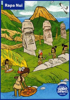 Material Didáctico: Pueblos originarios de Chile Teaching Spanish, Teaching English, Learn English, Indigenous Knowledge, Tourism Poster, Easter Island, National Holidays, Sixth Grade, Social Studies