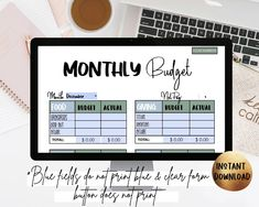 Do you constantly wonder where all your money is going? Does it seem like there's never any left at the end of the month? If so, you need a monthly budget! This editable budget template allows you to completely customize all 4 budget templates! Take control of your personal finances. #monthlybudget #budgeting #budgettemplate #editablepdf #personalfinance