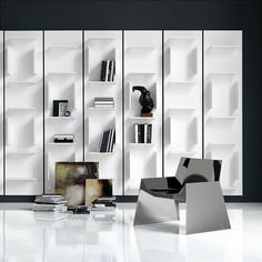 cattelan italia fifty modular wall bookcase | bookcase | cattelan italia | contemporary furniture