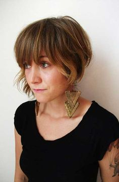 25 Short Bob Haircut with Bangs…