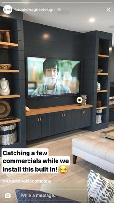 Living Room Tv Wall Entertainment Center Television 47 Super Ideas Some house. - Trend Home Entertainment 2020 Room Design, Home, Living Room Tv, Room Remodeling, Wall Entertainment Center, Living Room Built Ins, Family Room, Family Room Design, Living Room Tv Wall