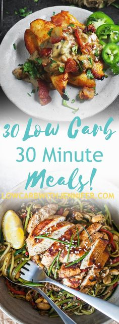 When you need dinner on the table in a flash, it is nice to have an arsenal of low carb 30 minute meals that are delicious and family friendly!
