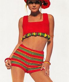 "Vintage 70s Summer Crochet ""Hot SHORTS"" ~PDF Pattern via Etsy."