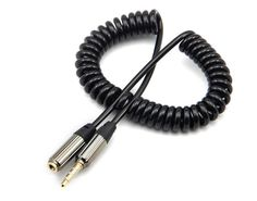 Lengthened 80-100cm 3.5mm stereo male to female spring expansion and contraction mobile phone headset extension cable #Affiliate