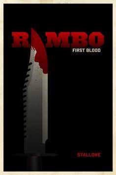 "Can't help it. Me fan of ""Sly""! :D  Rambo - Minimalist poster"