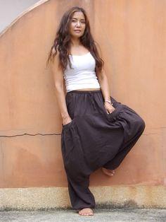 Harem Pants ...Yoga Pants ..Leisure Pants ...Color Brown by Ablaa