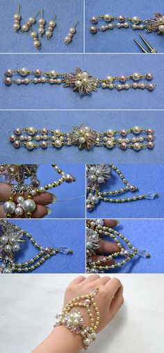 flower beaded bracelet, like it? LC.Pandahall.com will publish the tutorial soon.