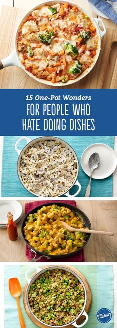 15 One-Pot Wonders for People Who Hate Doing Dishes: All these recipes come together in a single pot, pan or skillet with less than five ingredients.