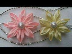 Como fazer flor de fita de cetim, muito fácil, passo a passo 2017, DIY- Sandra Monteiro,2017 - YouTube