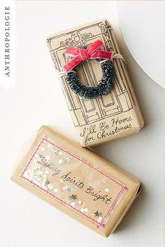 Festive Wreath Bar Soap | Shop Anthropologie Christmas gifts
