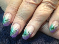 Hand painted for spring - Gel Nail art with Absolutely Divine Gel Nails