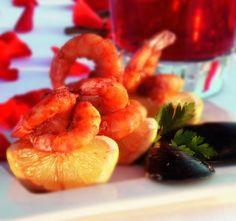 Shrimp with garlic and wine  Litsa B recipes!