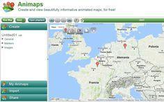 Animaps es una herramienta web gratuita para crear todo tipo de mapas. Lo interesante es que son mapas interactivos y animados, toda una innovación.