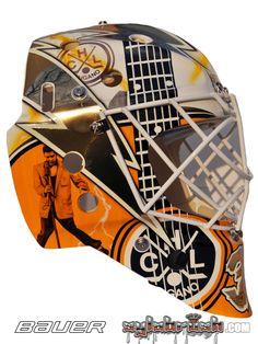 Elvis Merzlikins Goes Graceland With New Mask Design - InGoal Mag Goalie Mask, Columbus Blue Jackets, Lugano, Team S, Graceland, Mask Design, Masks, Sport, Sports