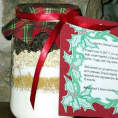 Oaty Chocolate Chip Cookies Gift in a Jar @ allrecipes.co.uk