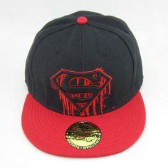 New Red black Superman hiphop Cosplay Snapback Adjustable baseball cap flat hat  #BaseballCap