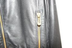 Versus Versace Leather Perforated Bomber Jacket 52 Large Super Cool | eBay