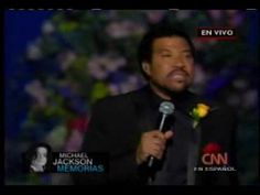 Jesus is Love - Lionel Richie (Jackson Memorial) - YouTube