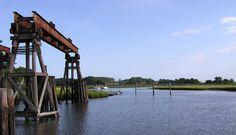 Old dry dock on Assawoman Creek, Assawoman, Virginia