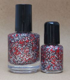 Ohio State Buckeyes Glitter Nail Polish Team Colors