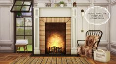 Sims 4 CC's - The Best: Royal Tonality Fireplace Conversion by MioSims