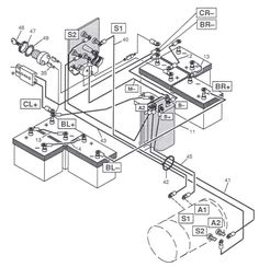 Taylor Dunn Wiring Diagram in addition 36 Volt Wiring Diagram further Taylor Dunn Wiring Diagram 48v further 36 Volt Melex Wiring Diagram also 1996 Yamaha Tdm850 Wiring Diagram And Electrical System. on cushman 36 volt wiring diagram