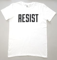 violet and percy shop - 'resist' logo t-shirt T Shirts For Women, Unisex, Logos, Sweatshirts, Mens Tops, How To Wear, Feminist Apparel, Shopping, Things To Sell