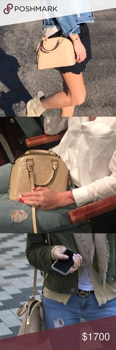 Louis Vuitton alma bb beige pre loved No signs of wear  Very nice and beautiful  Comes with box and dust bag Clean inside and clean corners 9 of 10 condition Louis Vuitton Bags