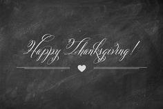 Happy Thanksgiving Chalkboard.