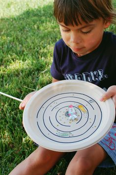 camp home: paper plate magnet maze